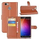 Owbb Hülle für Blackview E7 Ultra Schlanke Handyhülle Premium PU Ledertasche Flip Cover Wallet Case mit Stand Function Innenschlitzen Design Braun