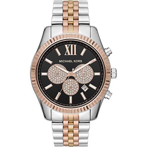 Michael Kors Mens Chronograaf Quartz Horloge met RVS Band MK8714