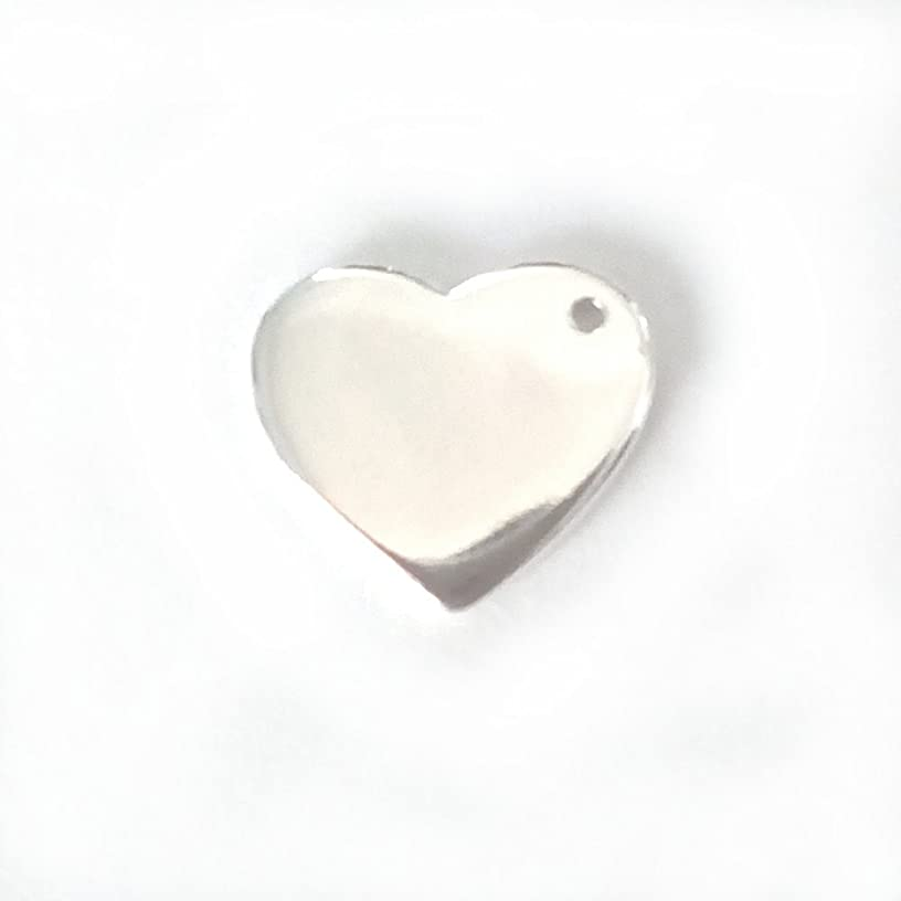5 qty. Engravable Sterling Silver Heart (12x10mm)By JensFindings