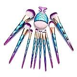 CLOOM Brochas De Maquillaje Profesional Set De 11 pcs y 1pc para Sombra De Ojos, Base De Maquillaje, Polvos, Mascara De Pestañas Brochas De Belleza del Boda Y Fiesta De Carnaval