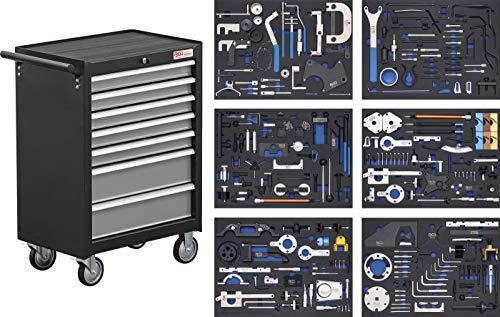 BGS 4115   Werkstattwagen   7 Schubladen   Motor-Einstellwerkzeug-Sätze
