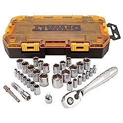 professional DEWALT (DWMT73804) socket wrench set, 3/8 inch drive, SAE / metric, 34 pcs