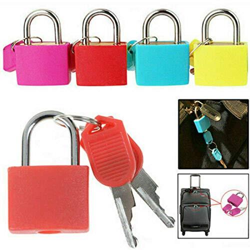 Gadget Zone UK® 4 Pack kleine mini duurzame ABS gedekt massief messing gesleutelde hangsloten