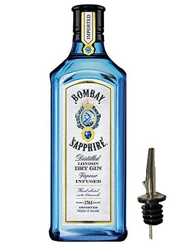 Bombay Sapphire Gin 1,0 Liter + Ausgießer