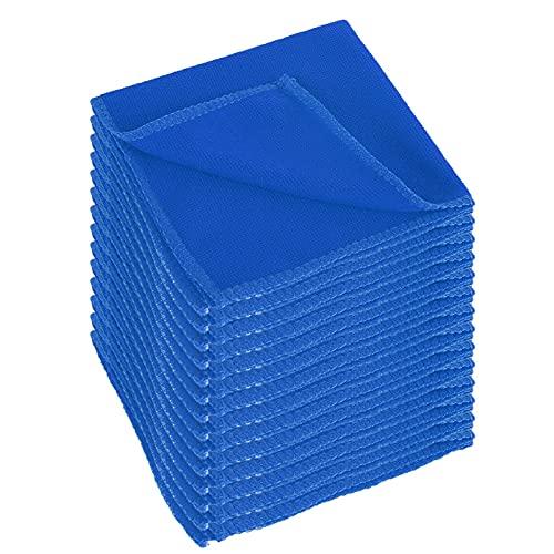 HONGGE 50 unids Lavado de Autos Toalla de Microfibra Limpieza de automóvil Tela de Secado de Tela de Lavado de Dobladillo de Lavado de Toalla Suministros 30x30cm (Color : Blue25cm/50pcs)