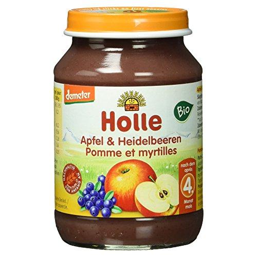 Holle Bio Apfel und Heidelbeeren, 190 g