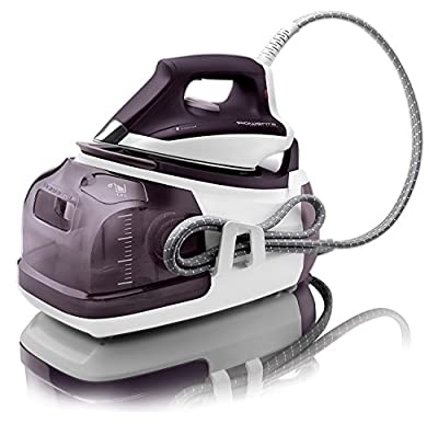 Rowenta DG8520 Perfect Steam 1800-Watt Eco Energy Steam Iron Station Stainless Steel Soleplate, 400-Hole, Purple (1.Unit)