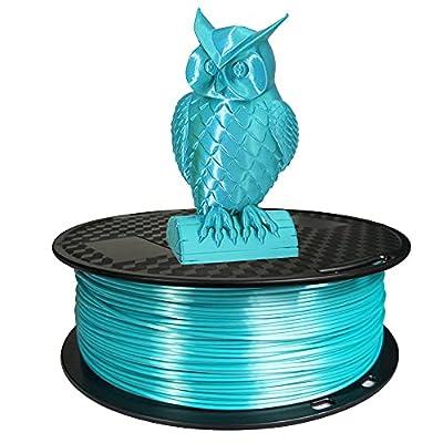 Silk PLA 3D Printer Filament 1.75mm 1KG 2.2 LBS Spool 3D Printing Material CC3D Shine Silky Shiny Metallic Metal Gold Silver Copper Bronze PLA Filament