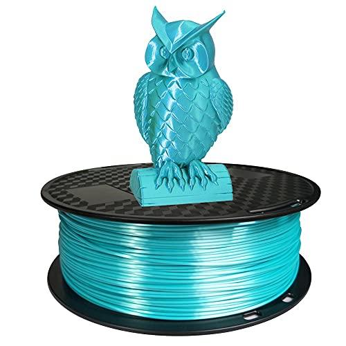 Silk Blue PLA Filament 1.75mm 3D Printer Filament