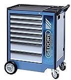 Carro de herramientas m.8schubladen 6x h.67mm 2x h.137mm gedorit cajones azul/plata