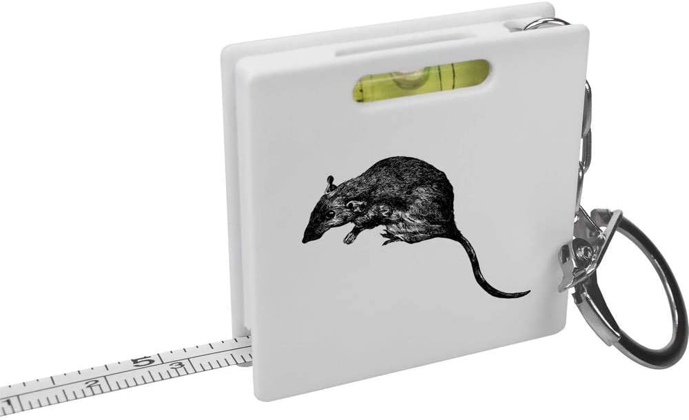 Azeeda 'Rat' Keyring Max 69% OFF Tape Measure Ranking TOP15 Spirit KM00015344 Level Tool