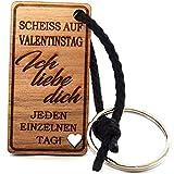 Lieblingsmensch Schlüsselanhänger aus Holz Modell: Scheiss auf Valentinstag