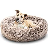 Calming Dog Bed for Medium and Small Dogs by ACT Pet Bed - Washable Dog Bed - Round Fluffy Dog Bed for Medium Small Dogs. Calming Pet Bed Donut Anxiety Dog Bed - Plush Fuzzy Modern Dog Bed Oval Shape