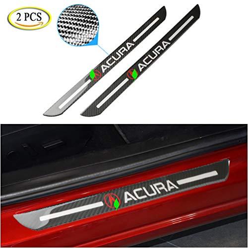 LAUTO 2pcs Epoxy Carbon Fiber Door Sill Sticker Scuff Plate Cover, Anti Scratch Car Door Sill Cover Scuff Plate Protector Sticker for Acura MDX/NSX/RDX/RLX/TLX/TL/RL/ZDX,58cm