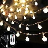 Lichterkette strombetrieben B-right 100 LED Globe Lichterkette, Lichterkette warmweiß, Innen und...