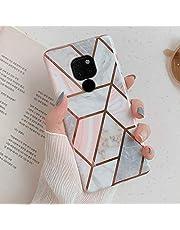 Uposao Compatibel met Huawei Mate 20 Marble Pink Gray