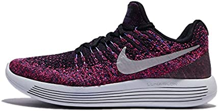 Nike Women's Lunarepic Low Flyknit 2 Running Shoe (6, Black Metallic Silver)