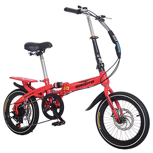 Kids Foldable Bike,Children Folding Bicycle Boys and Girls Mountain Bike Students Small Bicycle Men and Women,Variable Speed Damping Bike