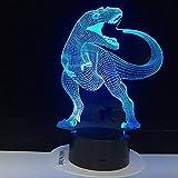 Dinosaur Theme Park 3D Lamp Game LED Night Light,7 Color Change Touch Mood Lamp Dropshipping Children Gift