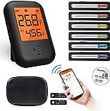 Termometro Cucina, Termometro Digitale per Carne per Cottura Wireless Bluetooth 5.0 con 6 ...