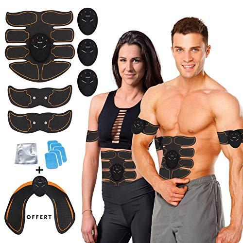 kames skoss prestige Electroestimulador Abdominales, Masculino Femenino, Keat Estimulador Muscular Brazo + Muslos + Piernas, Músculos de Masaje, (Noir)