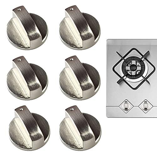 (6 confezioni)6mm Manopole forni,Manopola piano cottura,Manopola universale della gamma del gas,6 pentole universali per fornelli a gas