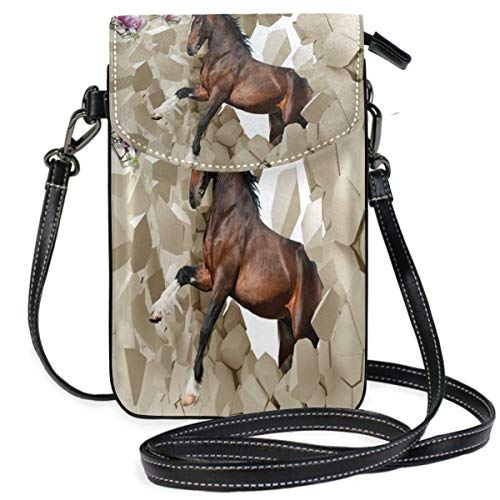 XCNGG Horse Cell Phone Purse Wallet for Women Girl Small Crossbody Purse Bags