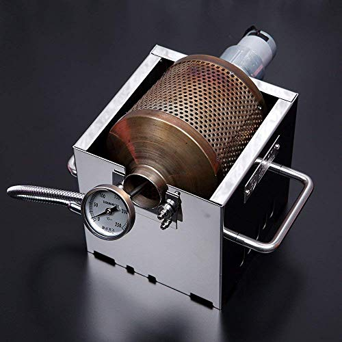 KALDI Mini Size (200~250g) Home Coffee Roaster Including Thermometer -Gas Burner Required (Motorize...