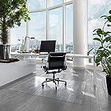 Bodenschutzmatte für Hartböden   Neo   Transparent & Halbtransparent   Bürostuhlunterlage Bodenmatte Stuhlunterlage   Stärke: 1,5 mm   viele Größen zur Auswahl (Transparent, 90 x 100 cm)