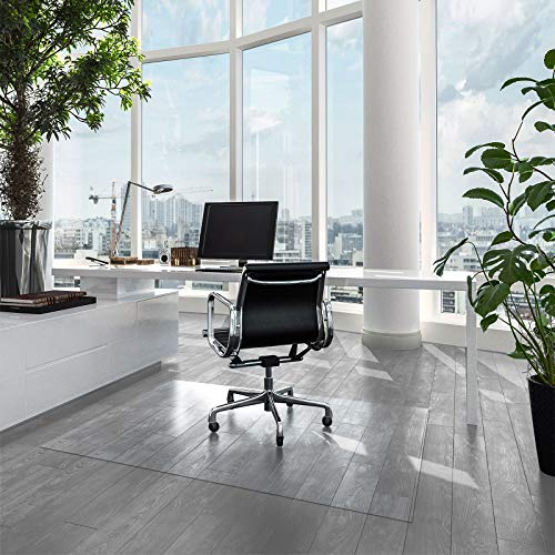 Bodenschutzmatte für Hartböden | Neo | Transparent & Halbtransparent | Bürostuhlunterlage Bodenmatte Stuhlunterlage | Stärke: 1,5 mm | viele Größen zur Auswahl (Transparent, 90 x 100 cm)