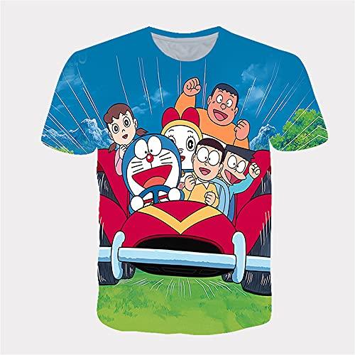 Aatensou Doraemon - Camiseta de manga corta para niños, diseño de dibujos animados, cuello redondo, unisex, Stil 10, small