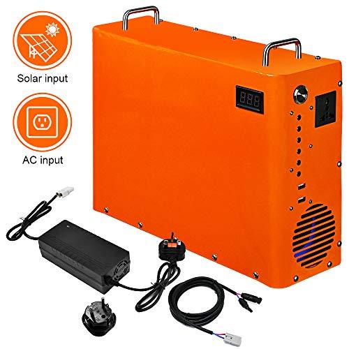 ECO-WORTHY 1000W Tragbarer Solar-Koffer Solar-Generator 1 kWh LiFePO4-Batterie für Gewerbliches Beleuchtungssystem Solar-Notfall-DC System Licht Kit für Caravan, Wohnmobil, Camper....