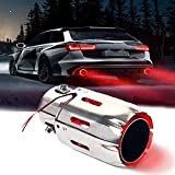 2.5'' Inlet Exhaust Tips Stainless Steel Muffler Car Exhaust Tail Pipe Modification Luminous Tube...