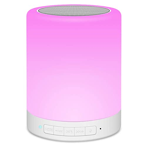 Bluetooth Speaker Lamp, Touch Control Night Light with RGB 7 Color Bedside Lighting Music Wireless Speakerphone for Bedroom