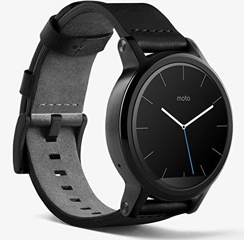 【第2世代】Moto 360 2nd Gen 2015 Smart Watch スマートウォッチ 腕時計 Android Wear iPhone対応 (42mm ブラック) 並行輸入品