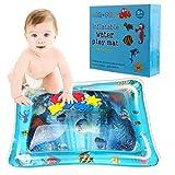 Colchoneta inflable para juegos de agua para bebés, BPA Libre Estera para el tiempo boca abajo A prueba de fugas Cojín de agua premium para niños recién nacidos