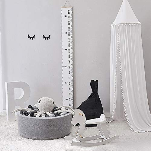 LYEC3 245cm Cotton Mosquito Net Baby Room Decoration Balls Mosquito Net Kids Bed Curtain Canopy Round Crib Netting Tent Photography Props 245cm (Color : White)
