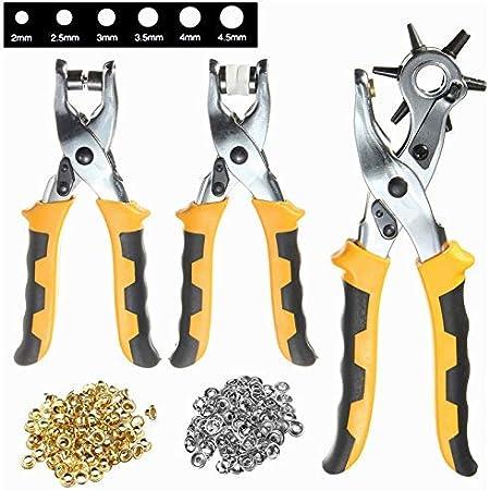 Details about  /Walfront Eyelet Pliers Set 100 Eyelets Steel Hole Punch Eyelet Setter Kit Ideal Mas... show original title