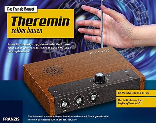 Das FRANZIS Bauset Theremin selber bauen | Theremin-Bausatz und Buch im Stil der 70er Jahre | Das Kultinstrument aus Big Bang Theory & Co.