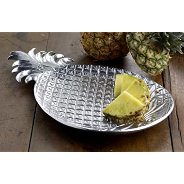 KINDWER Aluminum Pineapple Tray, 17-Inch, Silver