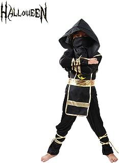 Ninja Costume for Boys Kids Halloween Party Dress up Cosplay Mask