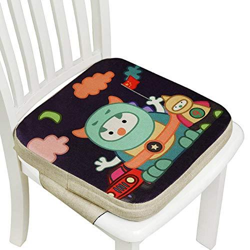 N-B Asiento Elevador para niños para Mesa de Comedor, 4 Filas de Cojines para sillas de Comedor para niños, cojín para bebé Gris de Viaje Lavable y portátil