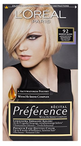 L'Oreal Paris Feria Preference 92 Iridescent Blonde Haar Farbe