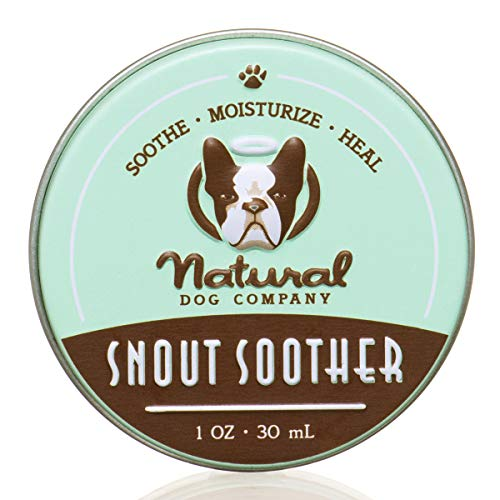 Natural Dog Company Snout Soother, Dog Nose Balm for Chapped, Crusty and Dry Dog Noses, Organic, All Natural Ingredients, 1oz Tin, 1 Count, Packaging May Vary