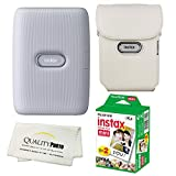 Fujifilm Instax Mini Link Smartphone Printer Bundle with Case and 20 Films (White)