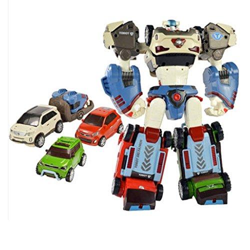 YOUNG TOYS Tobot Deltatron 3 Cars (X+Z+D) Transformer Robot Toy Action Figure (SorentoR+Soul+Morning)