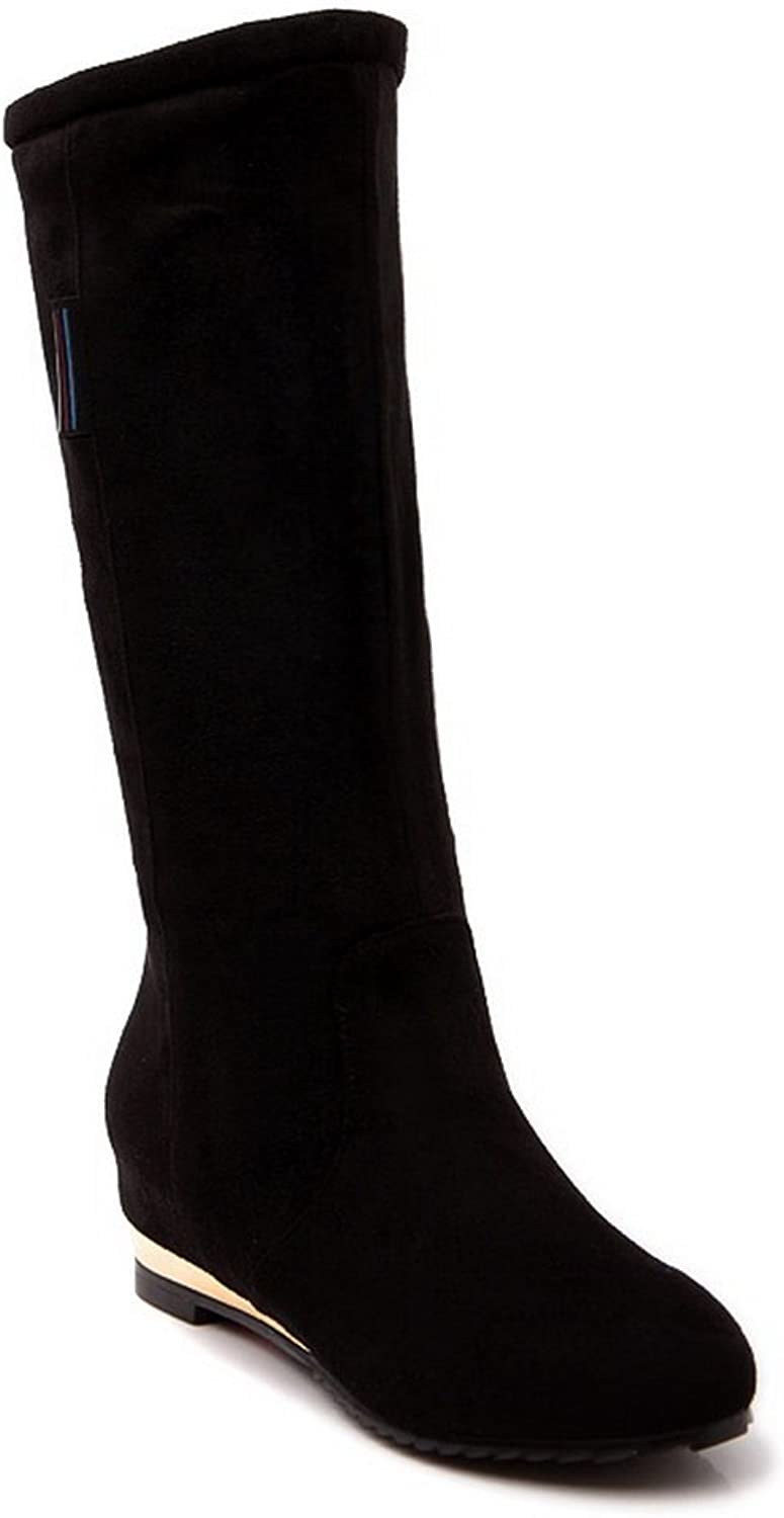 Ladola Girls Square Heels Heighten Inside Frosted Boots