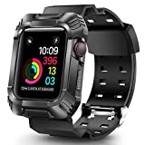 OCYCLONE Compatible for 44mm Apple Watch Band Men, Rugged Bumper Protective Shockproof Resistant Case with Bands Strap Fit with 44mm iWatch Series SE and Series 6 / 5 / 4 for Sport Style Mens