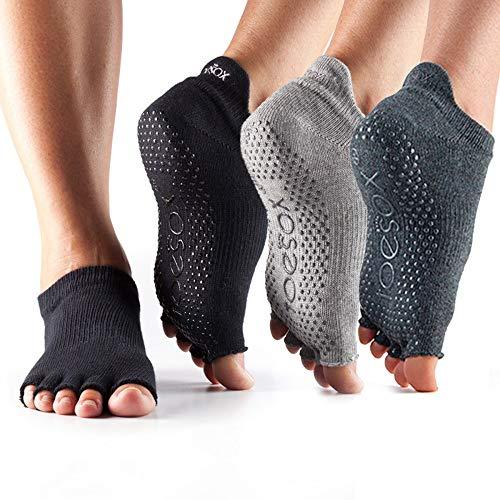 Toesox Multi-Pack Grip Pilates Barre Yoga Socks