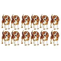 犬の刺繡モチーフアップリケ、アイロンパッチ、バックパック用12個のDIYデコレーションアイロンパッチパーカー